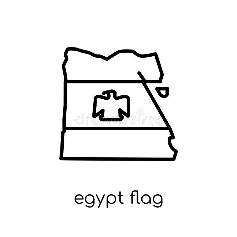 Egypt flag icon. Trendy modern flat linear vector Egypt flag icon on white background from thin line Country Flags collection royalty free illustration