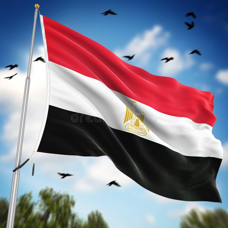 egypt flagga vektor illustrationer
