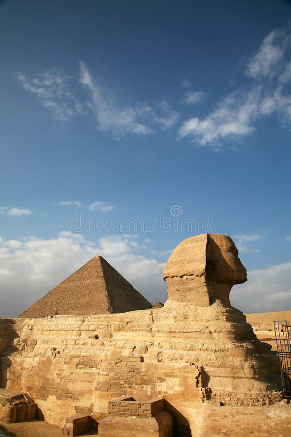 Egypt, Giza, pyramids. stock photography