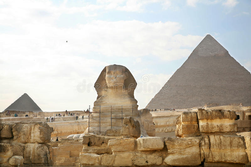 Egypt, Giza, pyramids. royalty free stock images