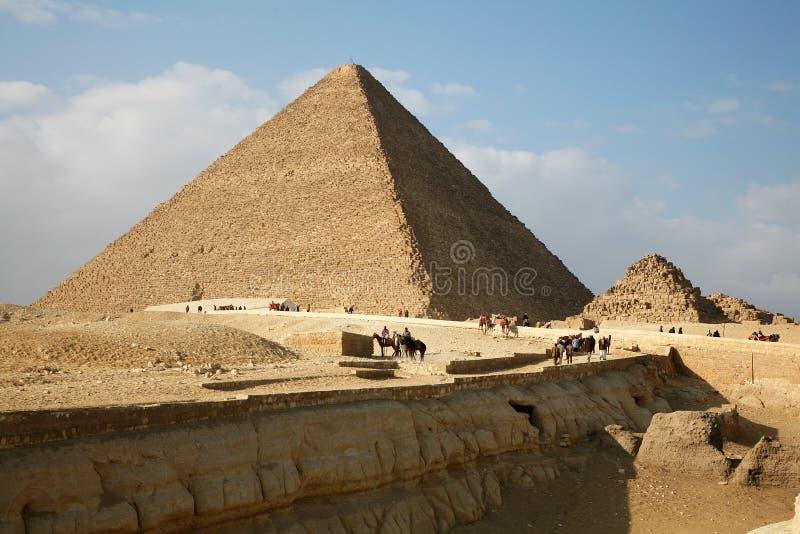 Egypt, Giza, pyramids. royalty free stock image