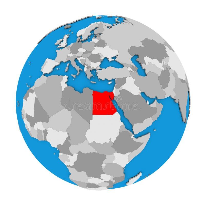 Egypt On Globe Stock Illustration Image - Map of egypt on the globe