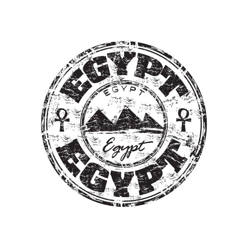 egypt grunge pieczątka ilustracja wektor