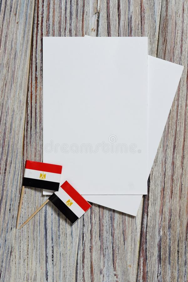 National day of Egypt on 23 July. revolution day. the concept of veterans Day or memorial Day . Egypt glory to the heroes of the. Egypt hanging flag for honour royalty free stock images