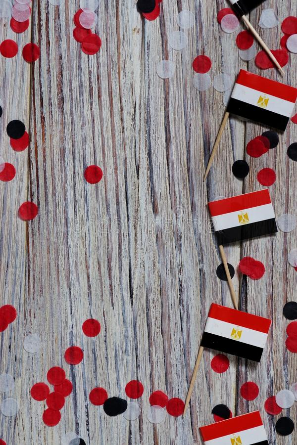 National day of Egypt on 23 July. revolution day. the concept of veterans Day or memorial Day . Egypt glory to the heroes of the. Egypt hanging flag for honour royalty free stock photo