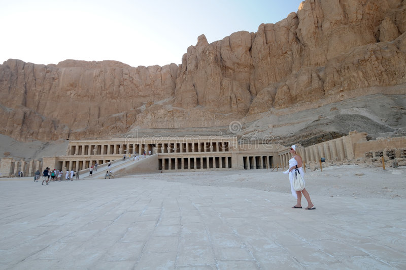 egypt hatshepsuttempel arkivfoton