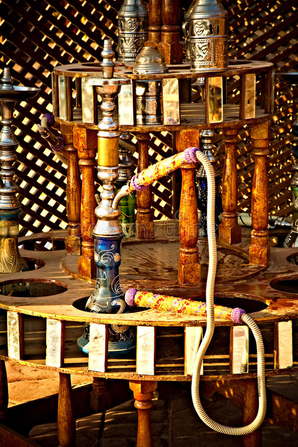 egypt hookah fotografering för bildbyråer