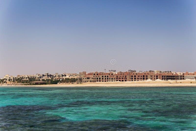 Egypt Hurghada Paisagem da linha do horizonte do vidneetsya do mar imagens de stock royalty free