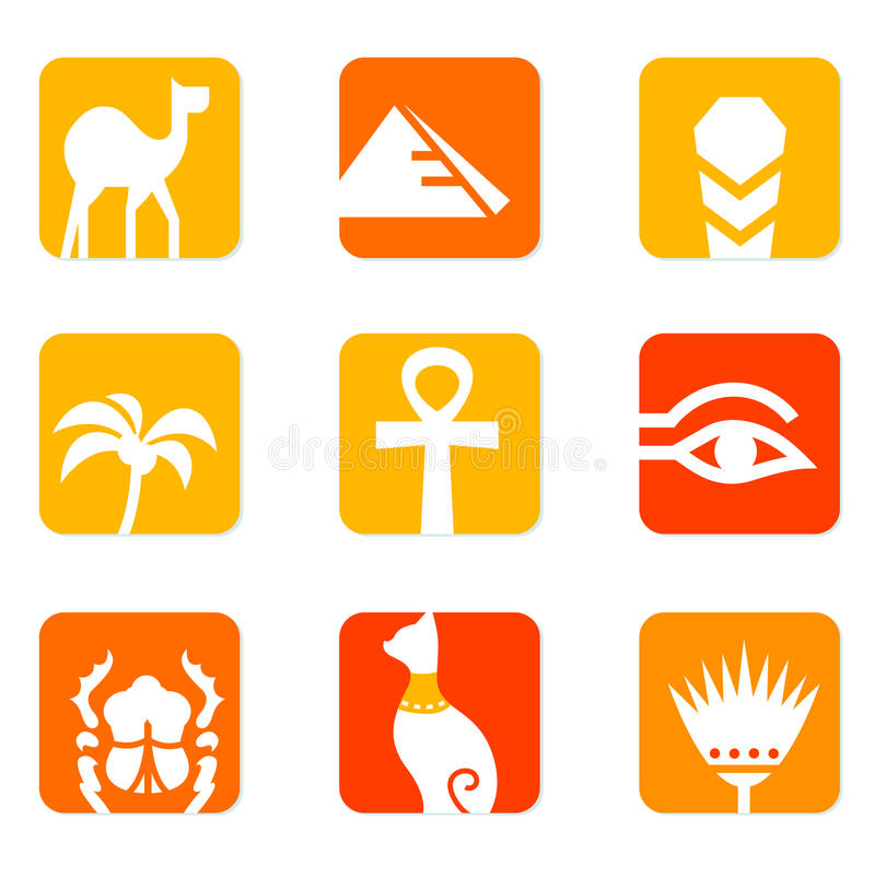 Download Egypt Icons And Design Elements Block. Stock Vector - Image: 20916875