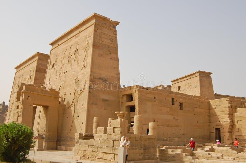egypt isis philae świątynni obrazy royalty free