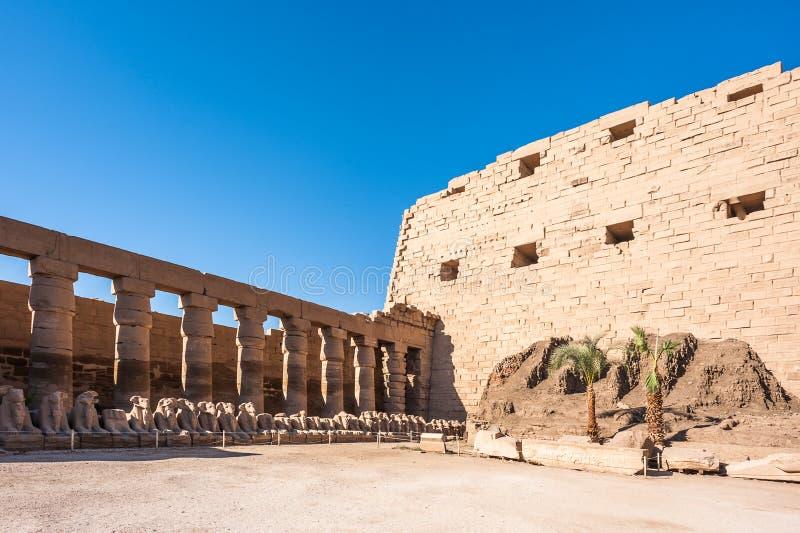 egypt karnak serii świątyni thebes zdjęcie royalty free