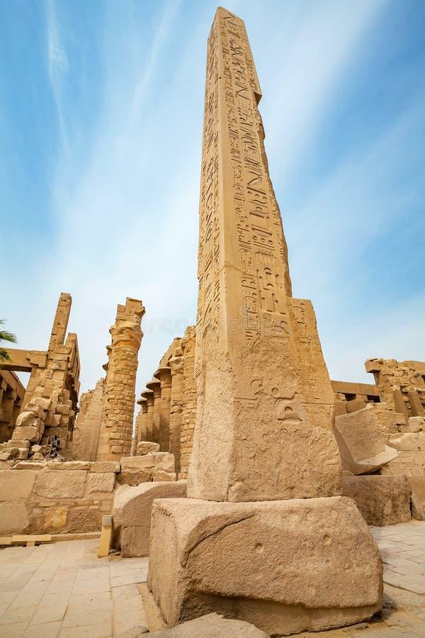 egypt karnak serii świątyni thebes Luxor egiptu fotografia royalty free