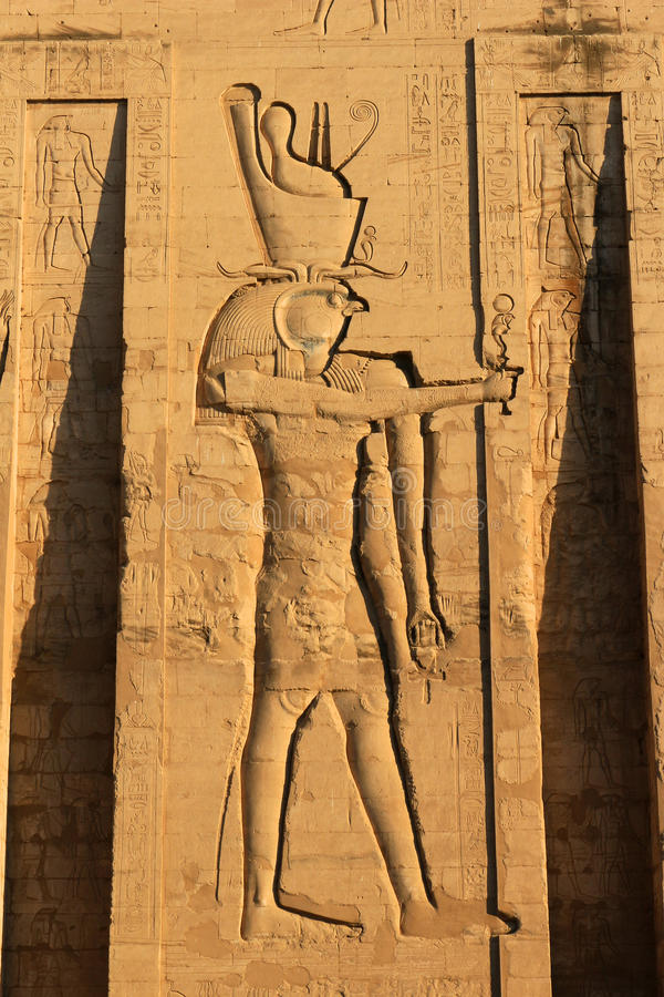 egypt karnaktempel arkivbild