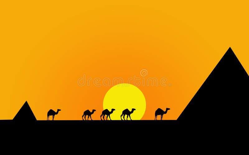 egypt krajobraz royalty ilustracja