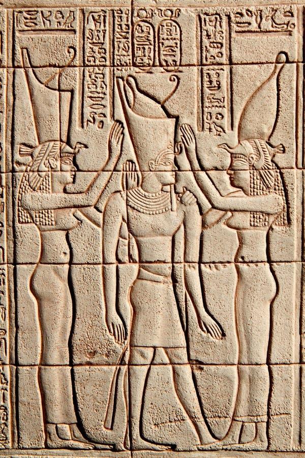 egypt lättnadssten arkivfoton