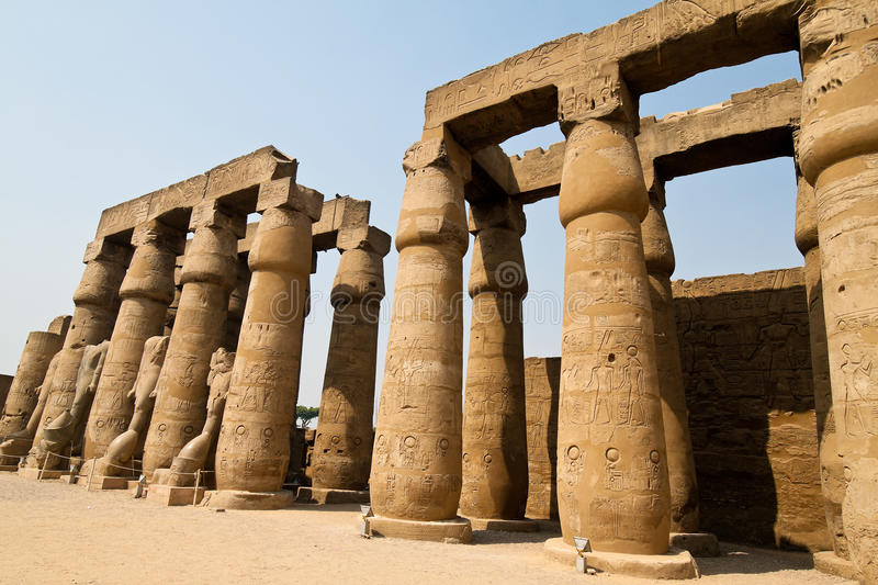 Egypt, Luxor, Amun. Africa, Egypt, Luxor, Amun Temple of Luxor.One of the highlights for every tourist in egypt stock photo