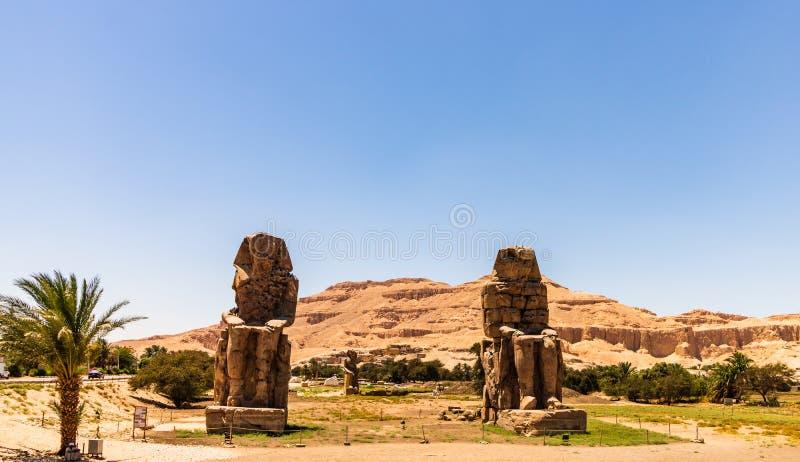 Egypt Luxor I Colossi di Memnon fotografie stock