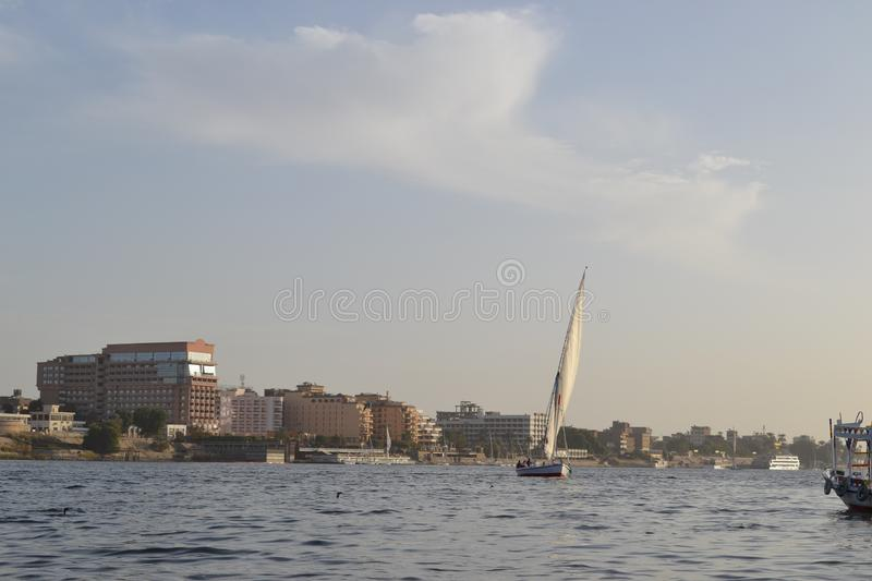 Egypt, Luxor, Nile stock photo