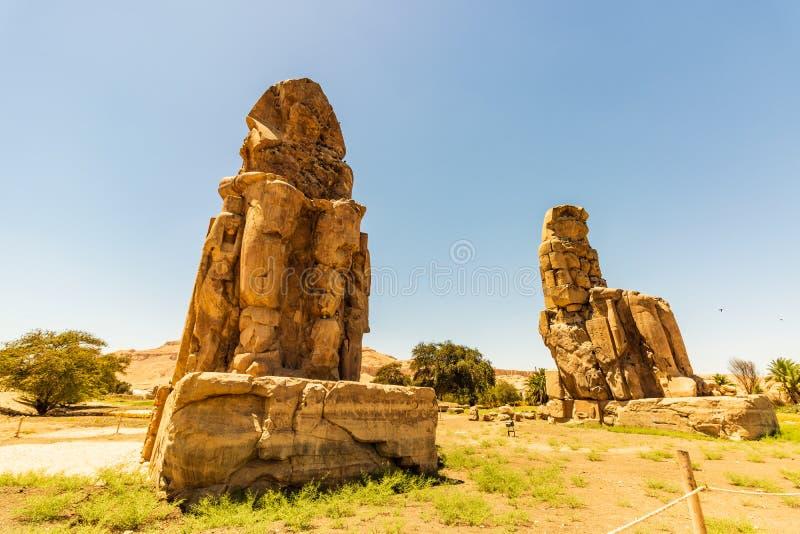 Egypt Luxor Os Colossi de Memnon fotografia de stock