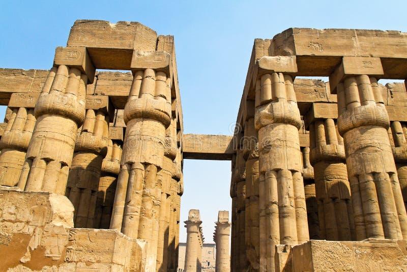 egypt luxor pn för amun 70qfo5n tempel royaltyfri bild