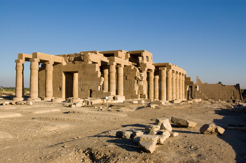 egypt Luxor ramesseum świątynia obraz royalty free
