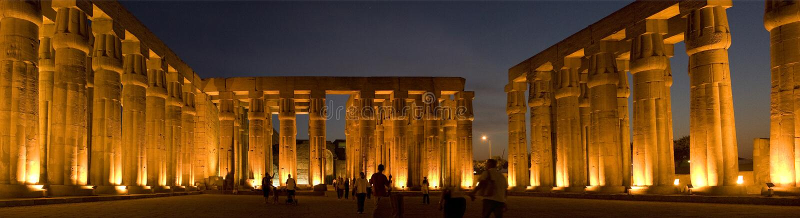 egypt luxor tempel arkivfoton