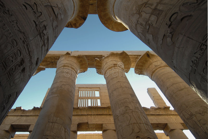 egypt luxor tempel royaltyfria bilder