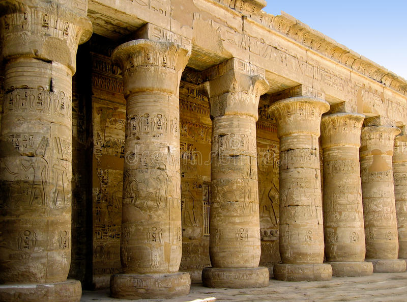 egypt luxor tempel arkivfoto
