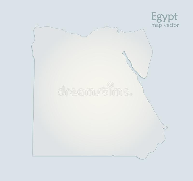 Egypt map blue white paper 3D stock illustration