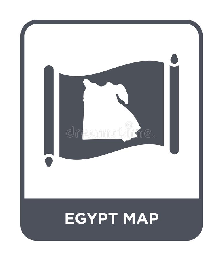 Egypt map icon in trendy design style. egypt map icon isolated on white background. egypt map vector icon simple and modern flat. Symbol for web site, mobile vector illustration