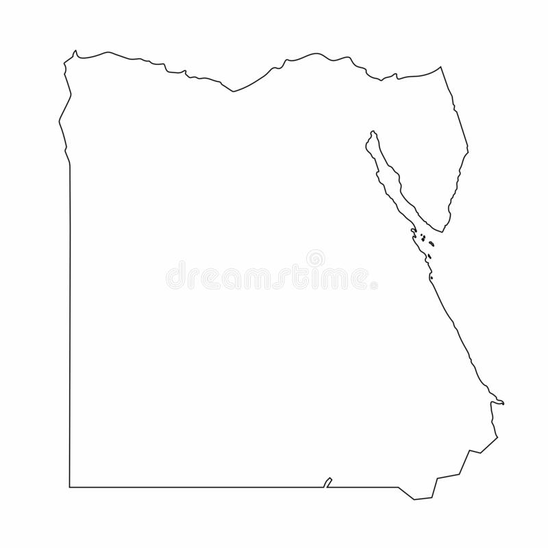 Egypt map outline graphic freehand drawing on white background. Vector illustration. Egypt map outline graphic freehand drawing on white background. Vector vector illustration