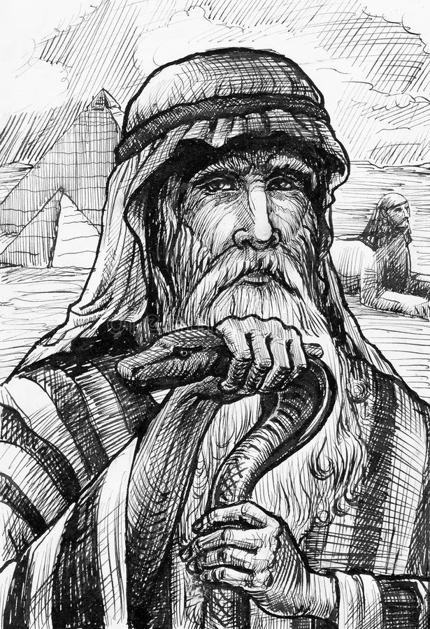 egypt moses bild vektor illustrationer