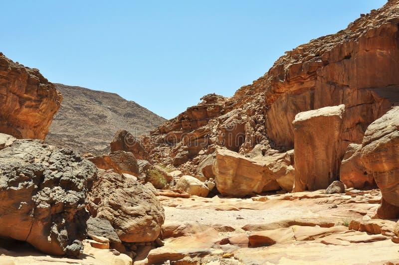 Egypt, the mountains of the Sinai desert royalty free stock image