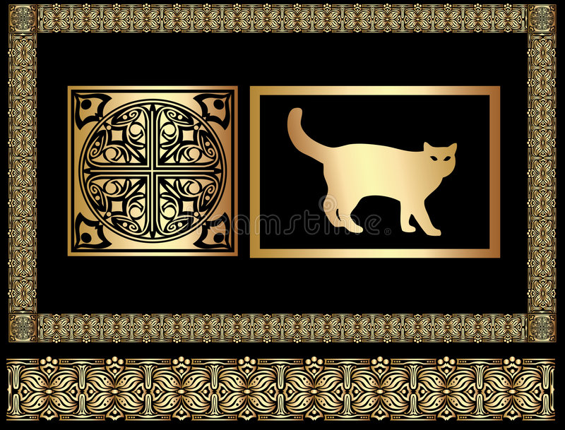 egypt ornament royalty ilustracja