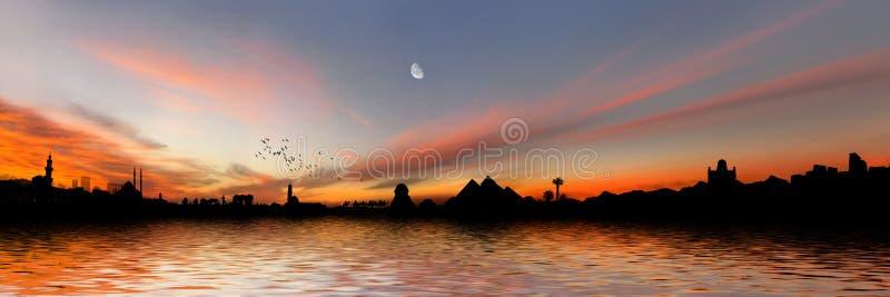 egypt panorama arkivfoton