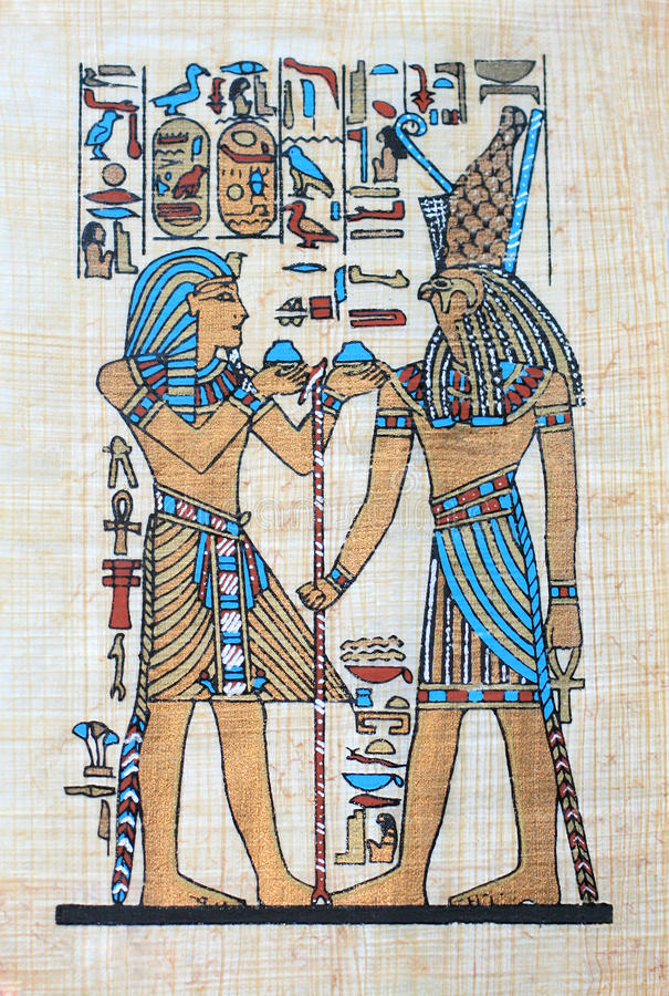 Egypt papyrus stock photo