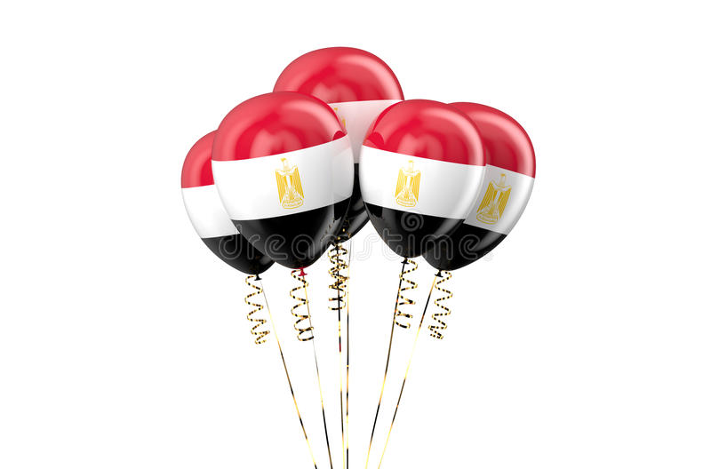 Egypt patriotic balloons, holyday concept. Isolated on white background royalty free illustration