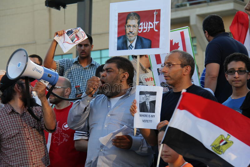 Egypt Protest Mississauga D Editorial Image