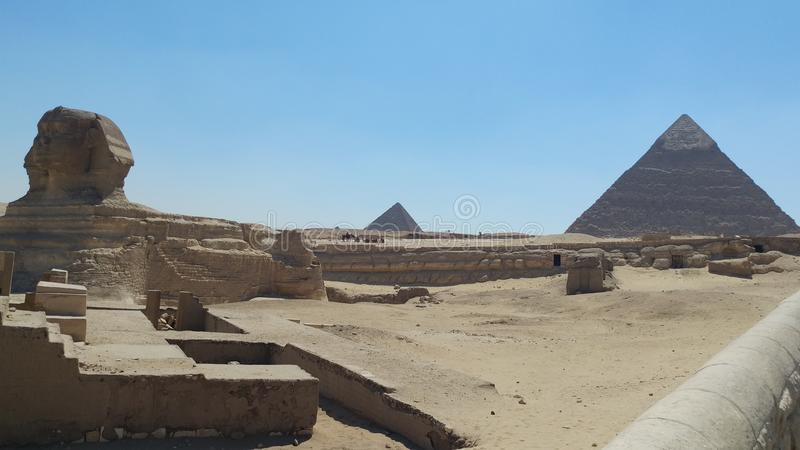Egypt pyramid Gyza Chefren. Egitto piramidi cammello gyza Chefren Sphinx sfinge stock image