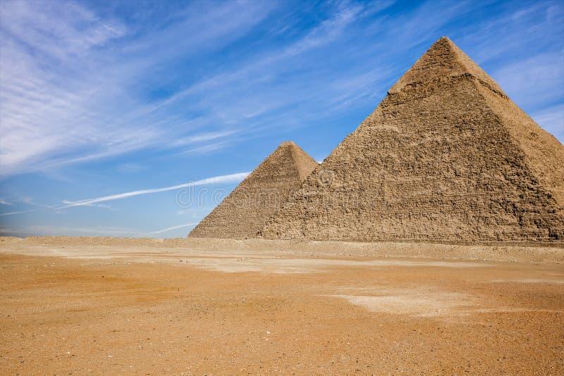 egypt pyramider royaltyfria bilder