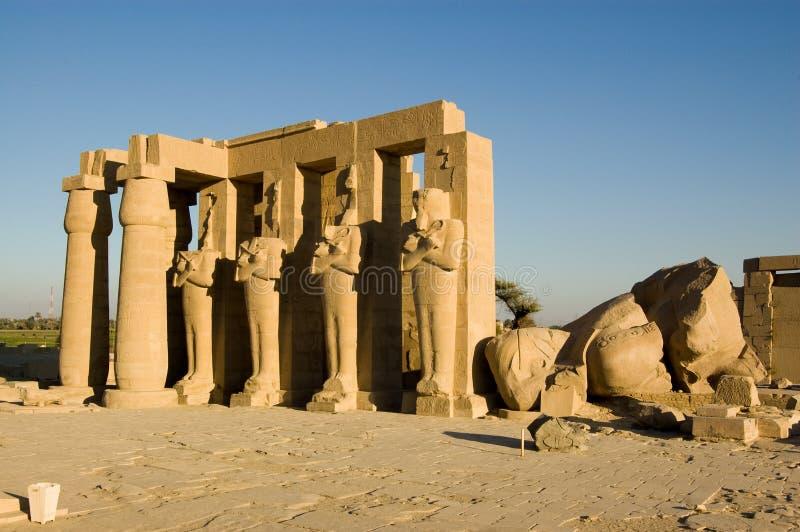 egypt ramesseum Luxor fotografia royalty free