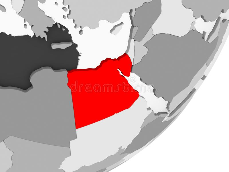 Egypt in red on grey map stock illustration illustration of world download egypt in red on grey map stock illustration illustration of world 121001814 gumiabroncs Gallery