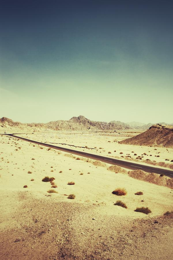 Egypt Road Royalty Free Stock Images