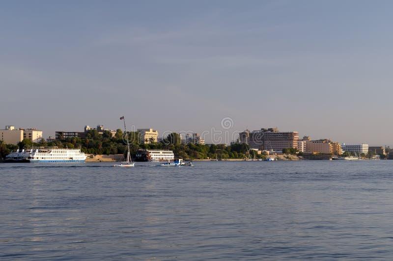 egypt rzeka Luxor Nile obraz royalty free