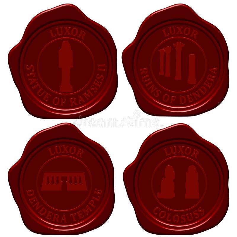 Egypt Sealing Wax Stamp Set Stock Photo