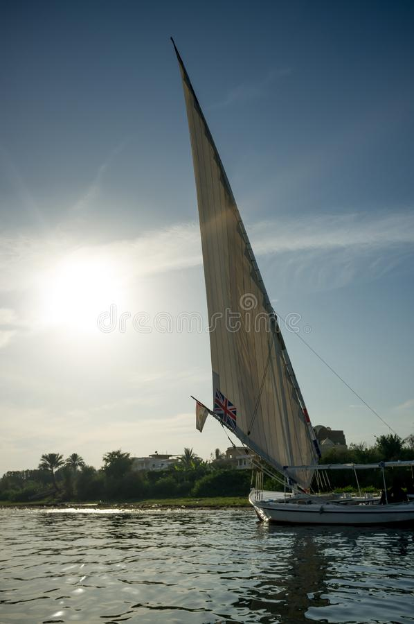Egypt. Ship at the Nile in Luxor stock image