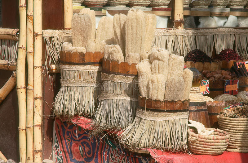 egypt shoppar souvenir fotografering för bildbyråer