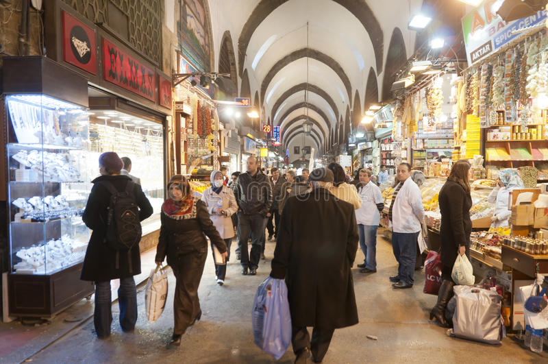 Download Egypt (Spice) Bazaar, Istanbul, Turkey Editorial Photography - Image of architecture, interior: 23553887