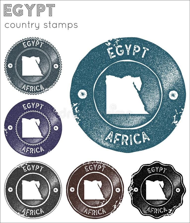 Egypt stamps collection. royalty free stock photo