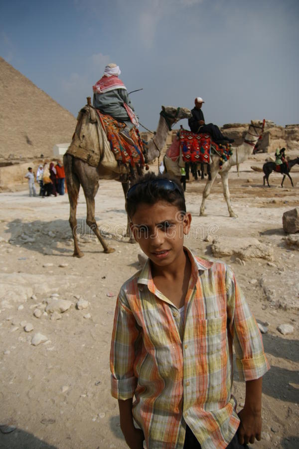 Egypt teenage and the camel riders